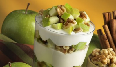 Yogurt, Parfait, Apple