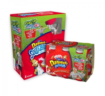 Danimals, Squeezables, Lowfat Yogurt, Strawberry Banana Split Flavor