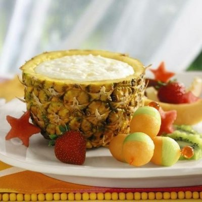 Yogurt, Low-fat, Pineapple