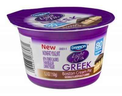 Light & Fit, Greek Nonfat Yogurt, Boston Cream Pie