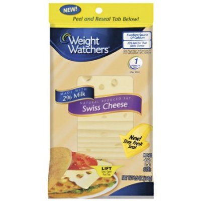 Cheese, Natural, Reduced Fat, Sliced, Swiss