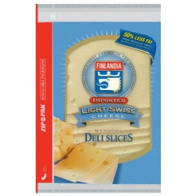 Imported Light Swiss Cheese, Deli Slices Cheese
