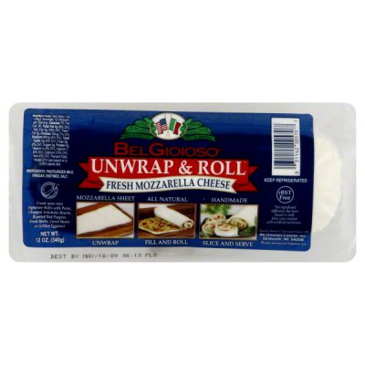 Cheese, Fresh Mozzarella, Unwrap & Roll
