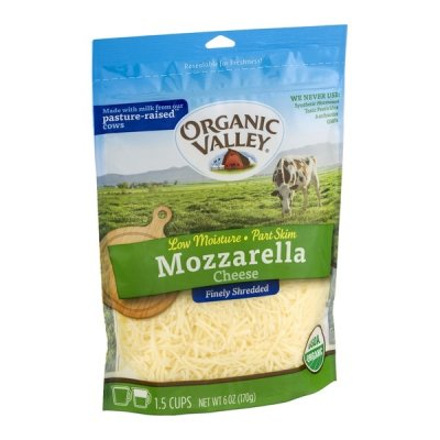 Reduced Fat, Shredded Natural Reduced Fat Low Moisture Mozzarella Cheese