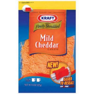 Natural Cheese Mild Cheddar Finely Shredded