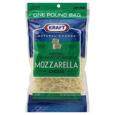 Mozzarella, Shredded Natural Low Moisture Part Skim Mozzarella Cheese