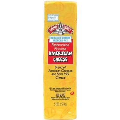 Reduced Fat/Sodium Pasteurized Process American Cheese
