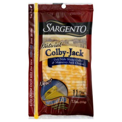 Cheese Slices, Deli-Style, Colby Jack, Reduced Fat, 2% Milk