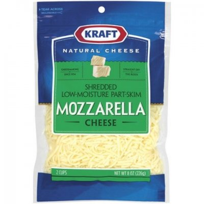 Cheese,Mozzarella Low-Moisture Part-Skim Shredded