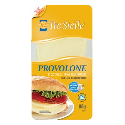 Provolone Cheese Slices, Not Smoked