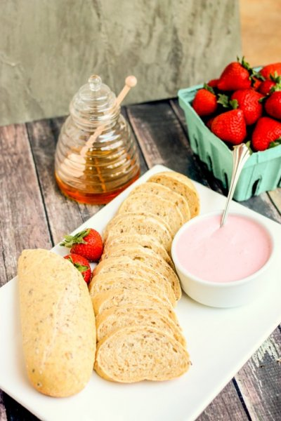 Strawberry Flavored Reduced Fat Whipped Cream Cheese Spread