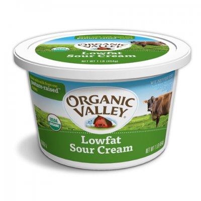 Sour Cream, Low Fat, Organic