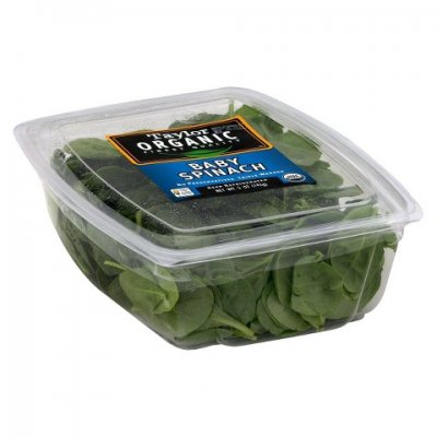 Organic, Spinach, Retailer Assigned