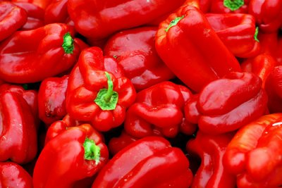 Peppers, sweet, red, cooked, boiled, drained, without salt