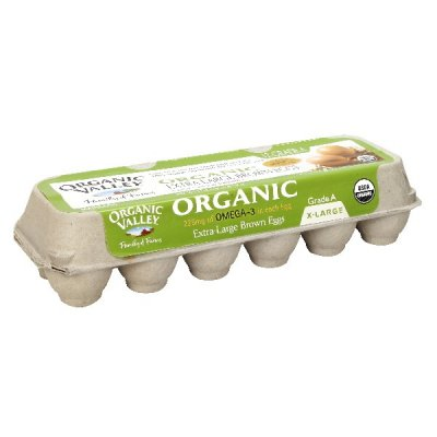 Organic Extra Large Brown Eggs with Omega-3