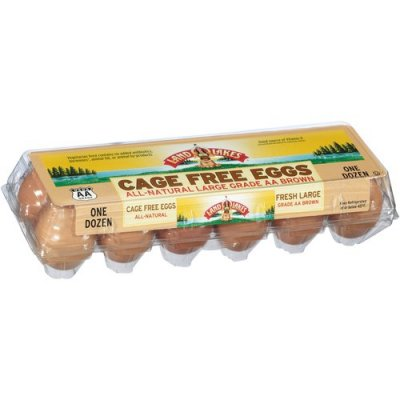Cage Free Natural One Dozen Fresh Grade A Large Brown Eggs