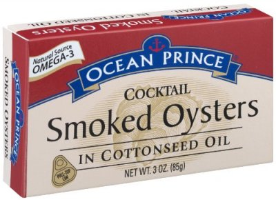 Cocktail Smoked Oysters In Cottonseed Oil