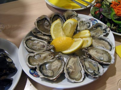 Mollusks, oyster, Pacific, cooked, moist heat