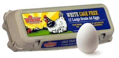 Natural Cage Free Large White Eggs