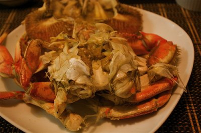 Crustaceans, crab, dungeness, cooked, moist heat