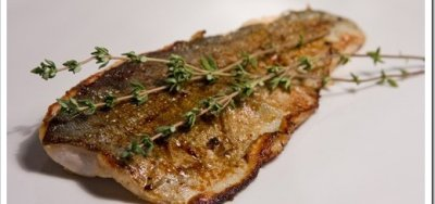 Fish, trout, rainbow, farmed, cooked, dry heat