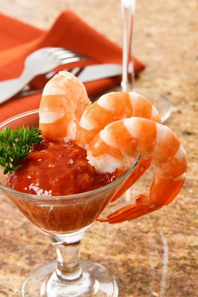 Shrimp, Cocktail, Cooked, Peeled, Tail-On