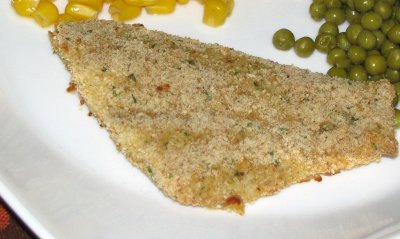 Flounder Fillets, Lightly Breaded