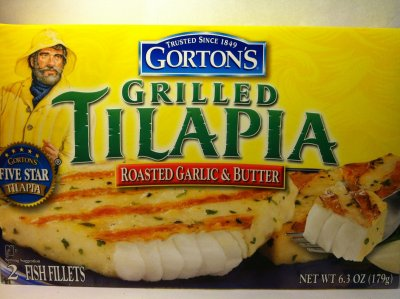 Tilapia, Grilled, Roasted Garlic & Butter