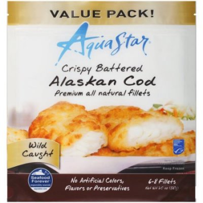 Cod Fillets, All Natural, Crispy Golden