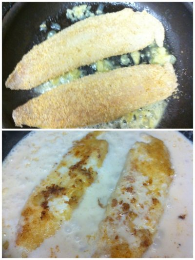 Lightly Breaded Tilapia Fillets