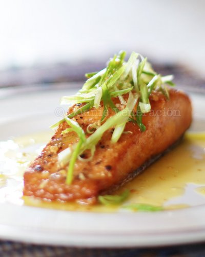 Salmon Fillets, Grilled, Lemon Butter