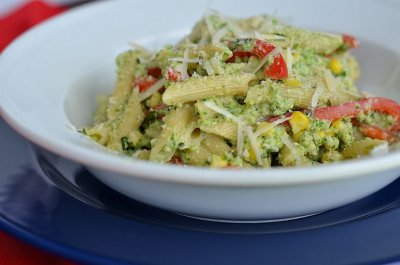 Broccoli Florets, Corn & Peppers