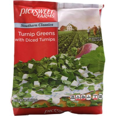 Turnip Greens, W/Diced Turnips