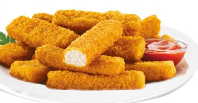 Crunchy Fish Sticks, Golden Breaded Minced Fish