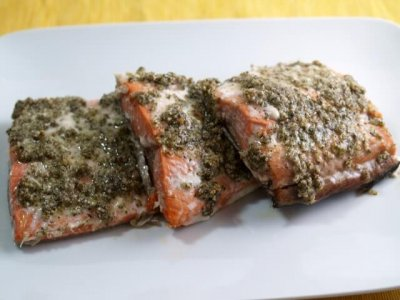 Salmon,Mediterranean Crusted