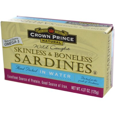 Sardines, In Water, Skinless and Boneless