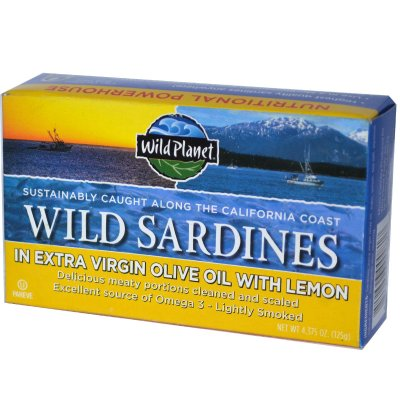 Sardines, Wild, in Oil with Lemon