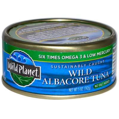 Tuna, Wild Albacore, No Salt