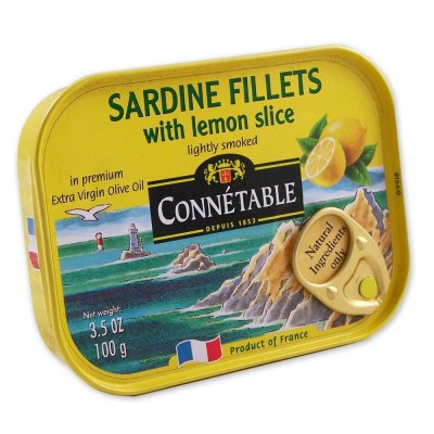 Lightly Smoked Sardines, In Lemon Flavored Extra Virgin Olive Oil