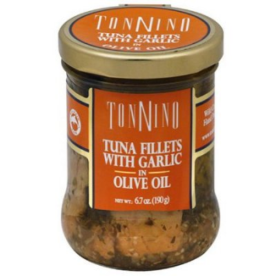 Tuna Fillets With Garlic In Olive Oil