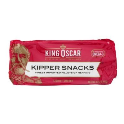 Finest Imported Fillets of Herring, Kipper Snacks, Lightly Smoked