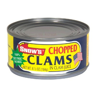Clams, Chopped In Clam Juice