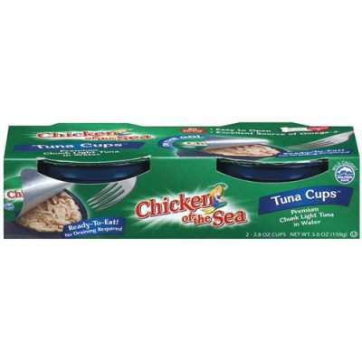Tuna Cups, In Water, Premium Chunk White