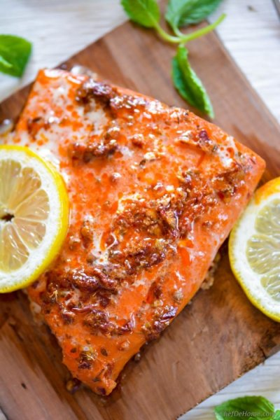 Chipotle Barbecue Glazed Salmon Fillets