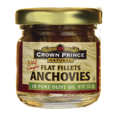 Flat Filets Of Anchovies In Pure Olive Oil