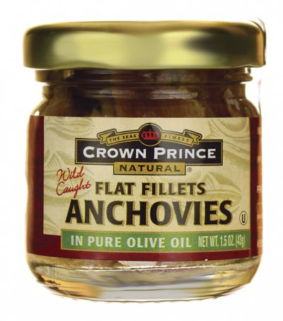Flat Fillets of Anchovies, in Pure Olive Oil