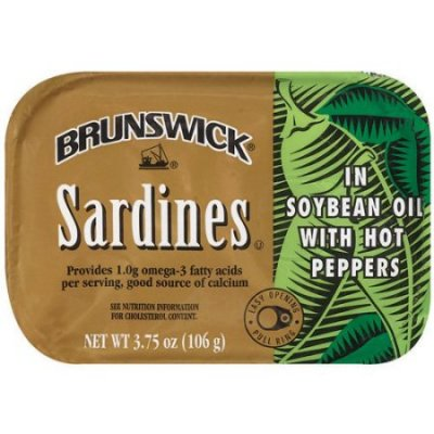 Sardines,In Soybean Oil W/Hot Peppers