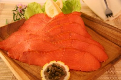 Smoked Salmon, Wild Alaskan Sockeye, Sliced, Cold Smoked