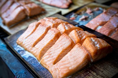 Cedar Planked Atlantic Salmon