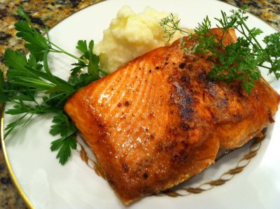 Coho Salmon with Color Added - Cracked Pepper